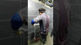 욕실리모델링 젠다이상판 재단치수(타일백서)