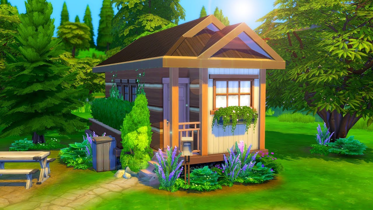 Rustic Tiny Home Sims 4 Speed Build Youtube