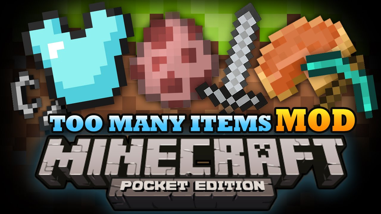 Мод toomanyitems скачать для minecraft pocket edition