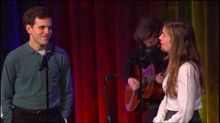 """Taylor Trensch (the new Evan Hansen) and Laura Dreyfuss perform """"Only Us"""""""