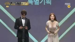Video Nam Joo Hyuk - Lee Sung Kyung @ 2016 MBC  Drama Awards Weightlifting Fairy Kim Bok Joo download MP3, 3GP, MP4, WEBM, AVI, FLV November 2017