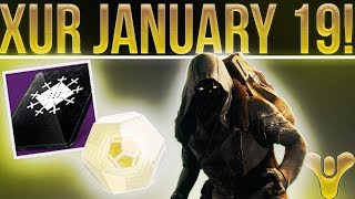 Destiny 2 New Xur Location & Exotic Inventory January 19th. Exotic Loot, Fated Engram & More!