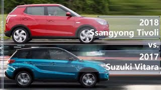 2018 Ssangyong Tivoli vs 2017 Suzuki Vitara (technical comparison)