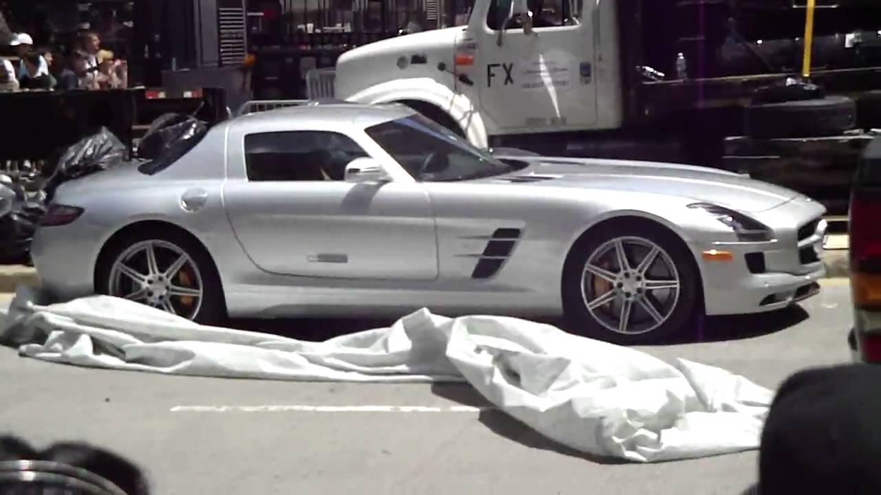 Transformers 3 Filming Chicago Silver Mercedes Youtube