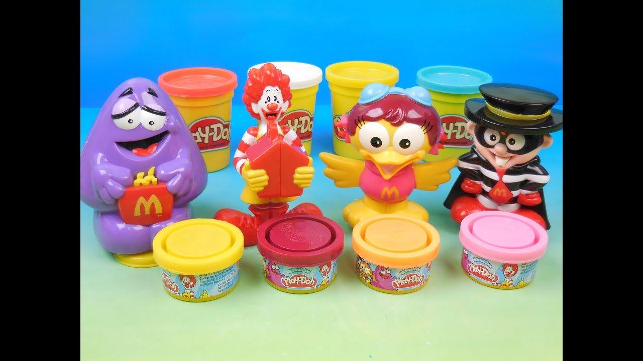 Mcdonald Land Fun Doh Play Set Of 4 Mcdonalds Happy Meal Kids Toys