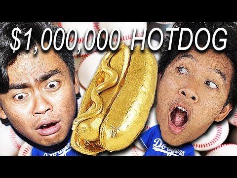 $1,000,000 Hot Dog at World Series!!! Ft. Guava juice!!!