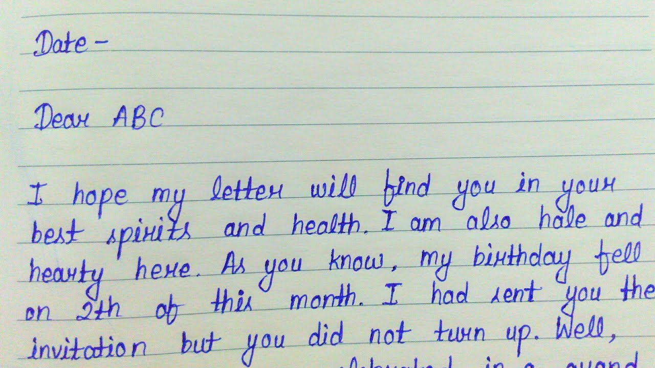 Write a letter to your friend describing your birthday party  Informal  letter