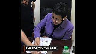 Ahead of warrant, Maria Ressa posts bail at Court of Tax Appeals