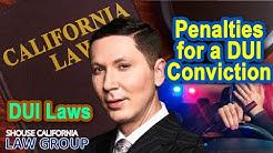 Penalties for DUI in California