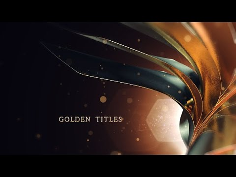 Golden Titles | After Effects Template