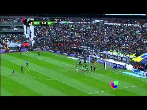 México Vs. New Zealand (5-1) 2014 FIFA World Cup Qualification - Intercontinental Play-Off (1 Leg)