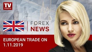 InstaForex tv news: 01.11.2019: Euro and pound come under pressure as markets await news from US (USD, EUR, GBP)