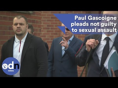 Paul Gascoigne pleads not guilty to sexual assault charge