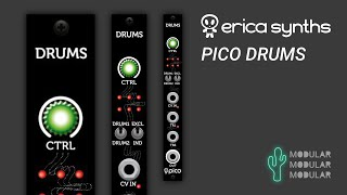 Erica Synths Pico DRUMS - factory sounds audio demo