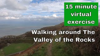 Virtual walk exercise - 15 minutes around the Valley of the Rocks in Devon