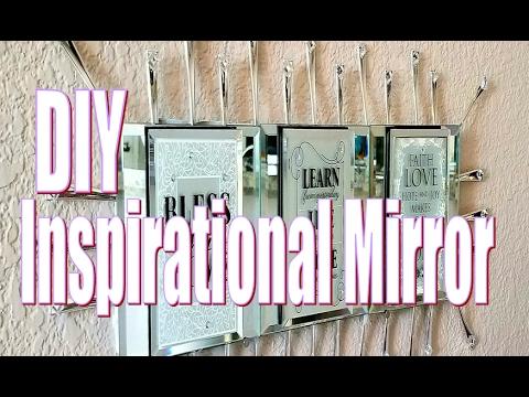 DIY Room Decor | Dollar Tree DIY Inspirational Mirror