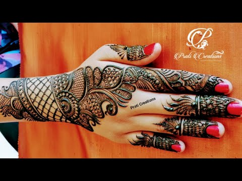 Beautiful Arabic Simple Design For Back Hand Henna Design