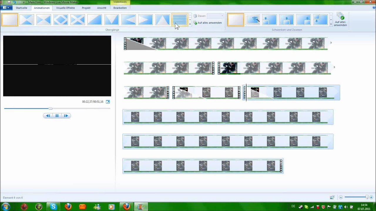how to make a silent film in windows movie maker