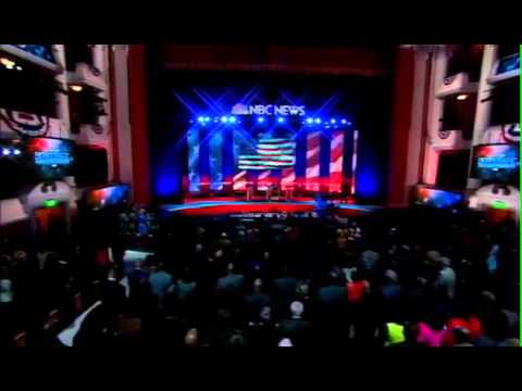 NBC News Democratic Debate 2016 Crystal Garrett National Anthem