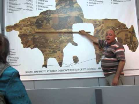Madaba Mosaic Map Lecture at St George Church in Madaba Jordan
