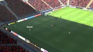 Arsenal Vs Man Utd - Cazorla Goal 32 Minutes