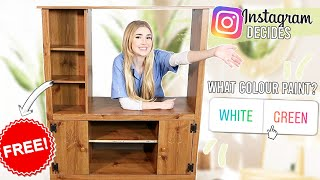 Instagram Followers Control My Furniture Flip !! *FREE furniture old to NEW*