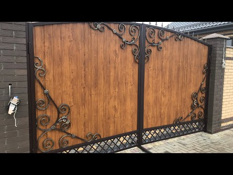 Ворота с элементами ковки своими руками