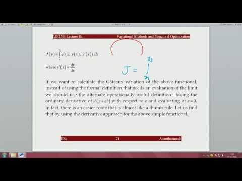 Lec16 First variation of a functional Frechét differential and variational derivative