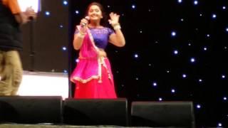 Bhojpuri Hungama Dance Doha Qatar Kajal raghwani with Viraj Bhatt funny moment 04-03-2016