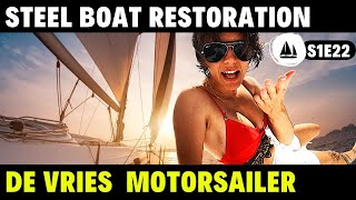 Steel Motorsailer or Liveaboard Trawler? Steel Boat Restoration Project  Living on a Boat in Florida