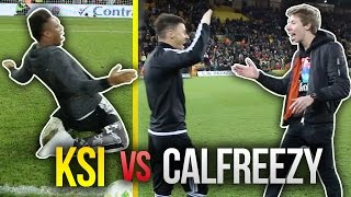 ksi vs calfreezy   epic stadium crossbar challenge