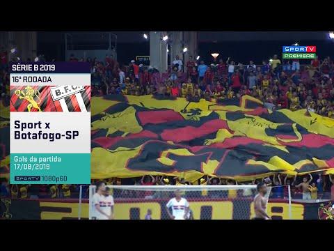 SporTV HD⁶⁰ | Gols de Sport 3 x 0 Botafogo-SP pela 16ª Rodada do Brasileirão Série B 2019