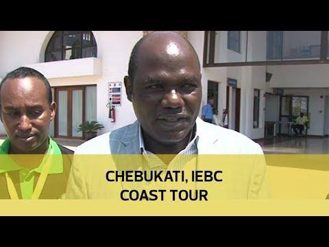 Chebukati, IEBC Coast tour