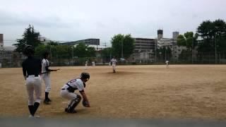 【草野球】表兄の盗塁を無駄にする佐村河内のポップフライ