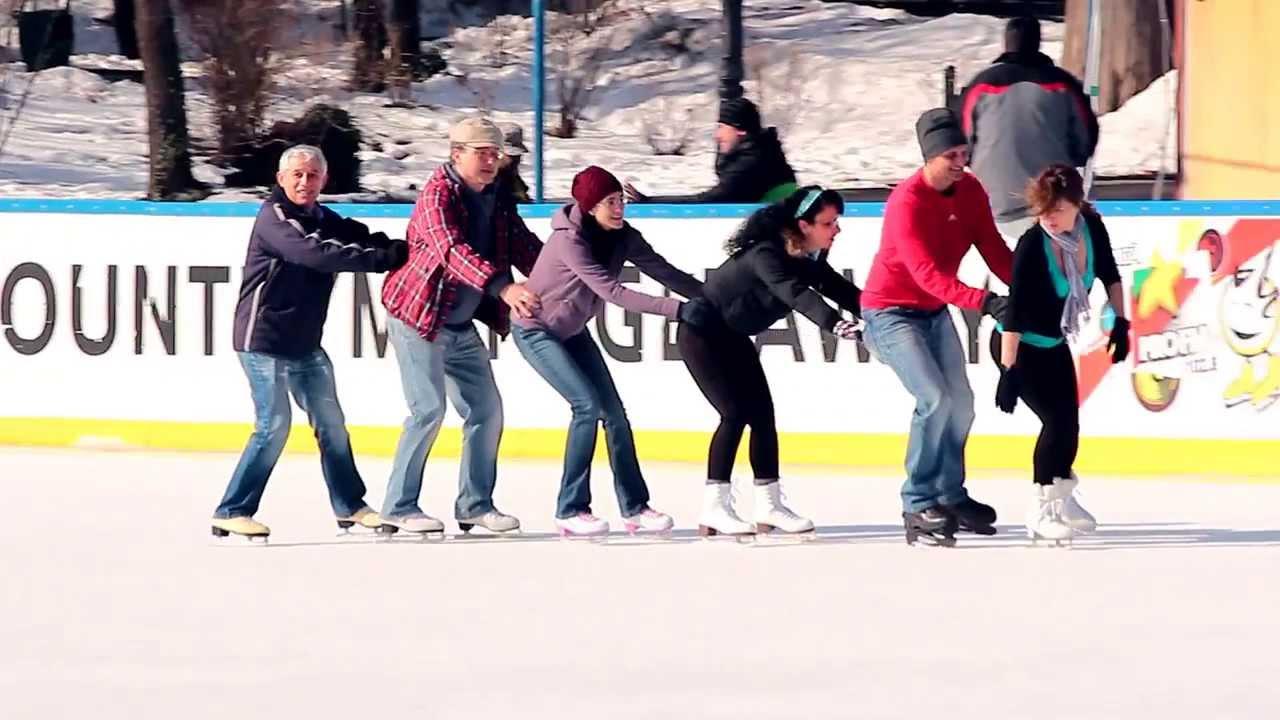 Funny ice skating