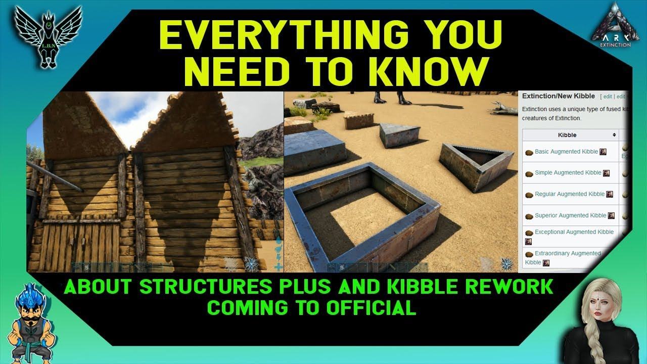 ARK: EVERYTHING YOU NEED TO KNOW ABOUT STRUCTURES PLUS AND KIBBLE REWORK  COMING TO THE GAME