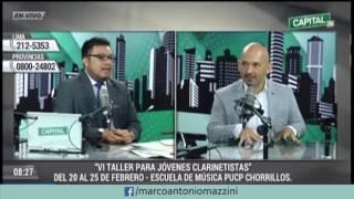 Marco Antonio Mazzini en entrevista en CapitalTV