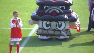 2016年5月22日 熊本地震復興支援マッチ 熊本vs水戸 @日立台 試合前の水...