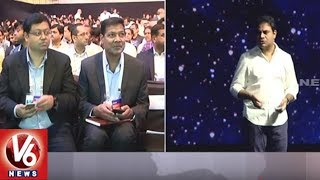 IT Minister KTR Excellent Speech At T-Day Celebrations In HICC | Hyderabad | V6 News