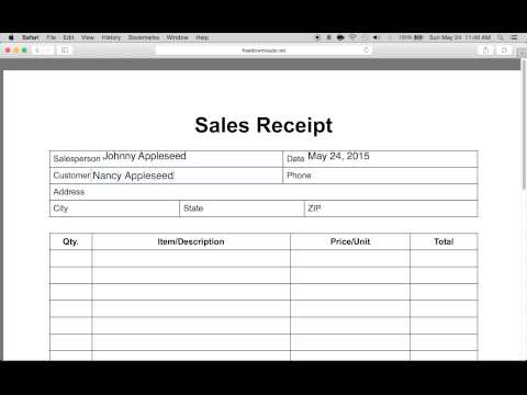Doc.#1280768: Make a Receipt in Word – How to Create a Receipts in ...