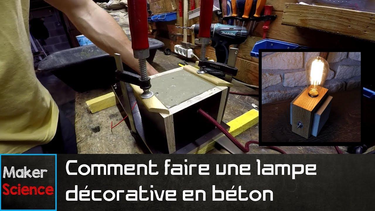 diy comment faire une lampe d corative en b ton youtube. Black Bedroom Furniture Sets. Home Design Ideas
