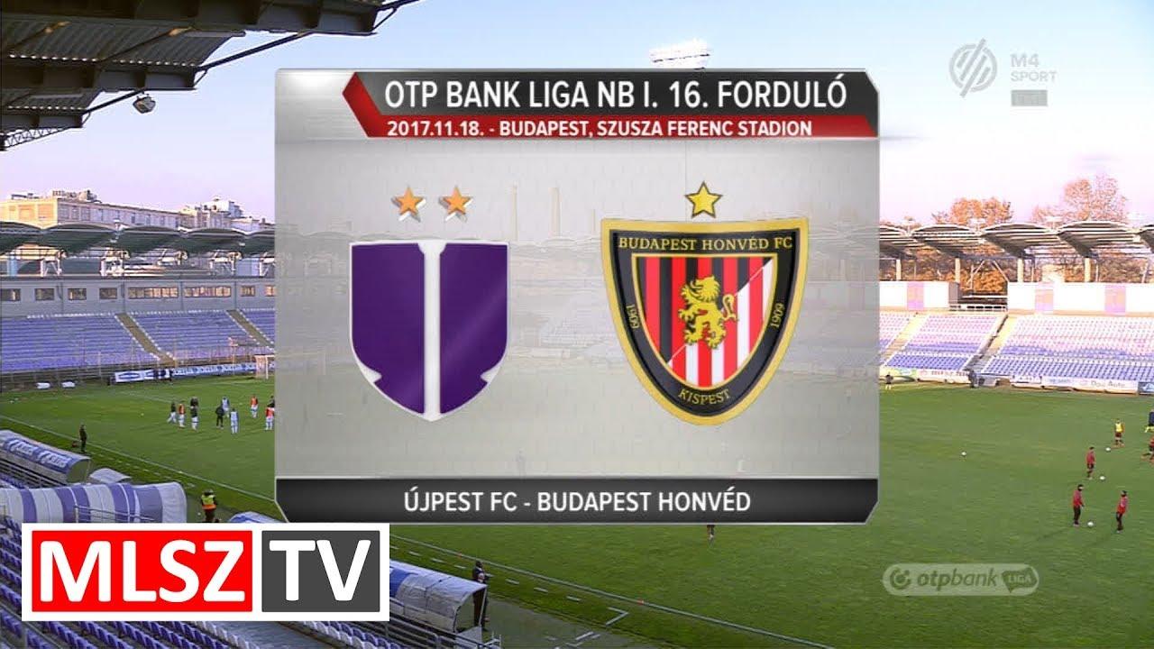 Újpest FC - Budapest Honvéd  | 2-1 | OTP Bank Liga | 16. forduló | MLSZTV
