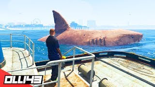 GTA 5 - Can You Become the Megalodon Shark?