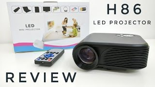 H86 LED Projector 1000 Lumens - REVIEW