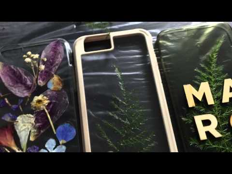 D.I.Y with ningzpie: Pressed flowers phone cases with resin