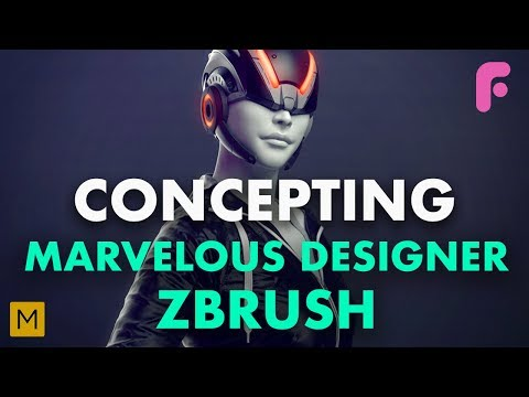 Concepting with Marvelous Designer & ZBrush - Premium Tutorial - 동영상