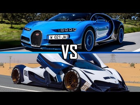 Bugatti Chiron Vs Devel Sixteen |Cars Battle