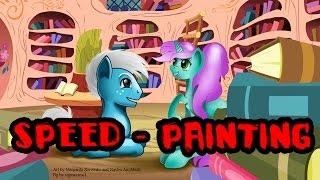 Беседа в библиотеке [Collab-speed painting Easy Paint Tool SAI]
