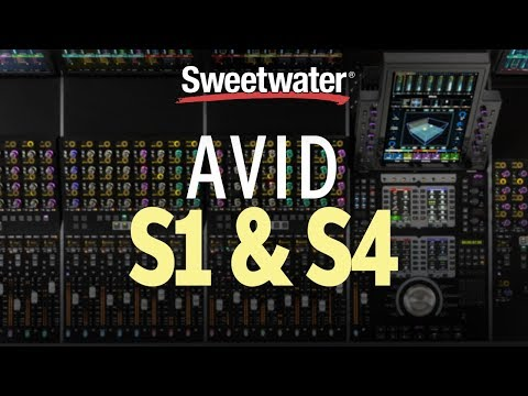 Avid S1 and S4 Control Surfaces — NAMM Announcement