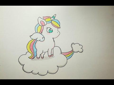 How To Draw A Unicorn Cute كيفية رسم يونيكورن حصان وحيد القرن رسم سهل للمبتدئين بالخطوات Youtube